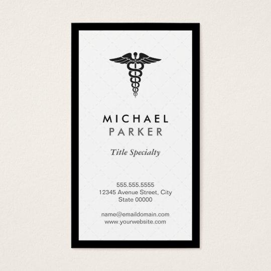 Caduceus Medical Symbol - Retro Black and White