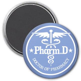 Caduceus PharmD 2 7.5 Cm Round Magnet