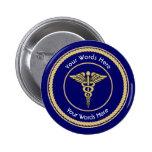 Caduceus Rope Shield Universal Custom 6 Cm Round Badge