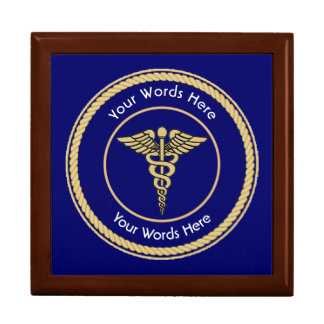 Caduceus Rope Shield Universal Custom Gift Box