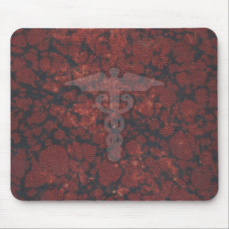Caduceus the medical symbol for a doctor or nurse mouse mat
