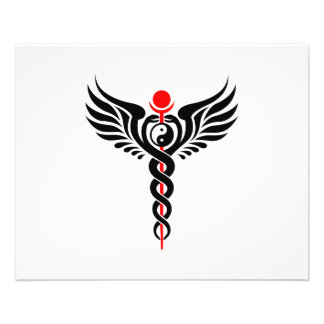 Caduceus – Yin Yang – Winged Serpent – Hermetic Personalized Flyer