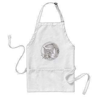 Caelia circle standard apron
