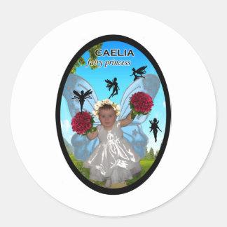 caelia Fairy Princess Round Sticker