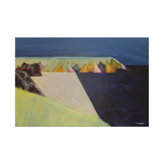 """Caerfai Bay"" Julie Christine Gannon Canvas Print"