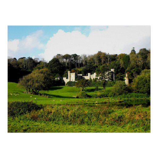 Caerhays castle and gardens poster