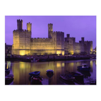 Caernarfon Castle, at Night, Gwynedd, Wales Post Card