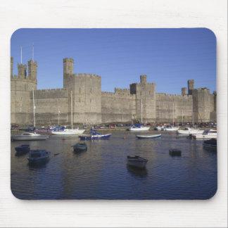 Caernarfon Castle, Gwynedd, Wales (RF) Mouse Pad
