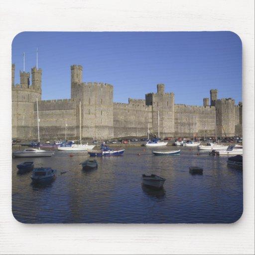 Caernarfon Castle, Gwynedd, Wales (RF) Mouse Pads