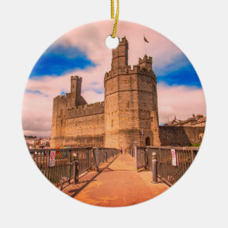 Caernarfon Castle Wales. Christmas Ornament