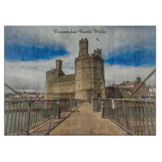 Caernarfon Castle Wales. Cutting Board
