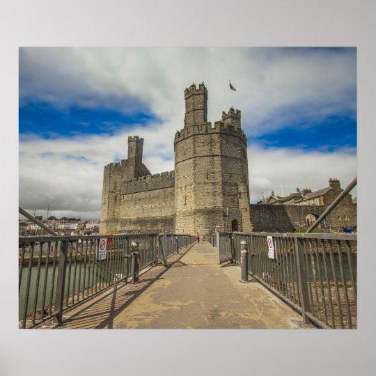 Caernarfon Castle Wales. Poster