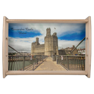 Caernarfon Castle Wales. Serving Tray