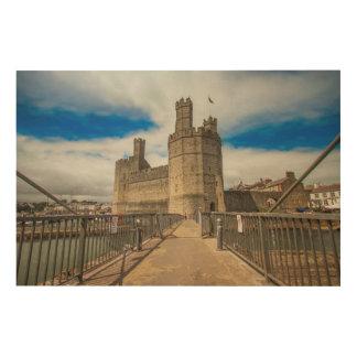 Caernarfon Castle Wales. Wood Print