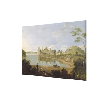 Caernarvon Castle, c.1745-50 (oil on canvas) Canvas Print