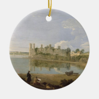 Caernarvon Castle, c.1745-50 (oil on canvas) Round Ceramic Decoration