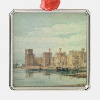 Caernarvon Castle Silver-Colored Square Decoration