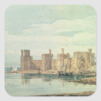 Caernarvon Castle Square Sticker