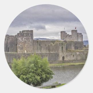 Caerphilly Castle Classic Round Sticker
