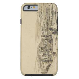 Caerphilly Castle (pen, ink and wash on paper) Tough iPhone 6 Case