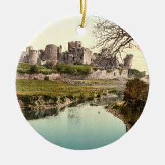 Caerphilly Castle, Wales Christmas Ornament