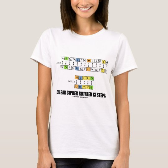 Caesar Cipher Rotated 13 Steps Cryptography T-Shirt