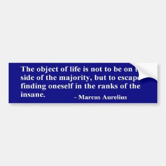 Caesar Marcus Aurelius Quote - Sticker Bumper Sticker