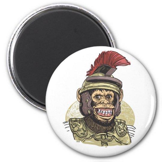 Caesar Roman Chimp 6 Cm Round Magnet