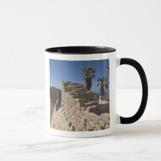 Caesarea ruins of port built by Herod the Great 3 Mug