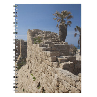 Caesarea ruins of port built by Herod the Great 3 Spiral Notebook