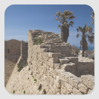 Caesarea ruins of port built by Herod the Great 3 Square Sticker