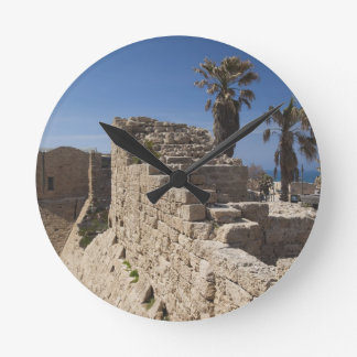 Caesarea ruins of port built by Herod the Great 3 Wall Clock