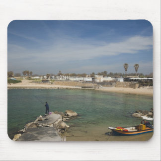 Caesarea ruins of port built by Herod the Great Mouse Mat