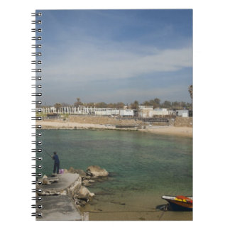 Caesarea ruins of port built by Herod the Great Notebook