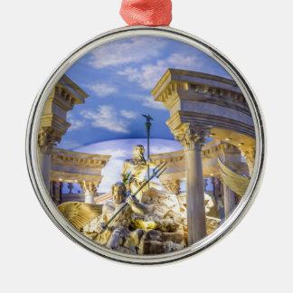 Caesars Palace Las Vegas Statue Hotel Casino Silver-Colored Round Decoration