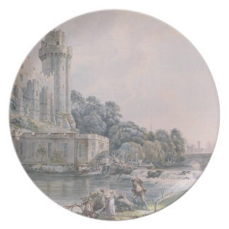 Caesar's Tower and Part of Warwick Castle Plate