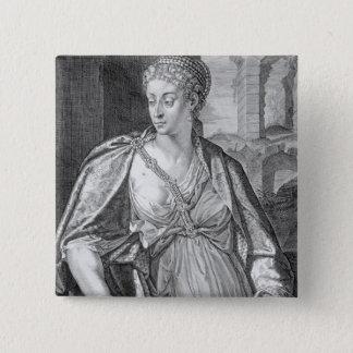 Caesonia wife of Caligula (engraving) 15 Cm Square Badge