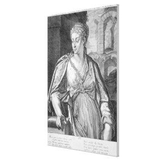 Caesonia wife of Caligula (engraving) Canvas Print