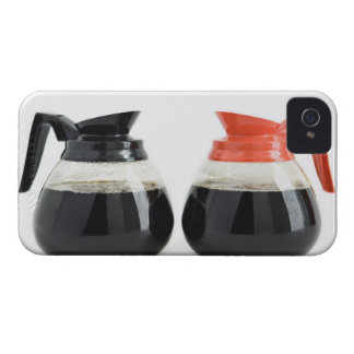 Caf. and Decaf. Coffee Pots on White. iPhone 4 Case-Mate Case