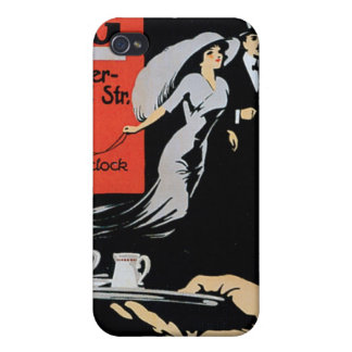 Cafe ABG Vintage Coffee Shop Ad Art iPhone 4 Cases