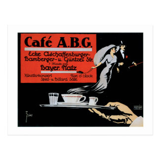 Cafe ABG Vintage Coffee Shop Ad Art Post Cards