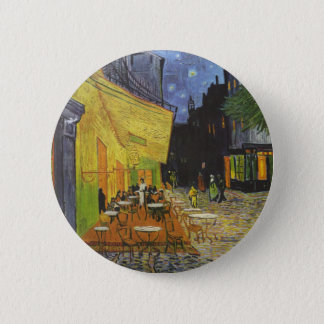 Cafe at Night by Vincent Van Gogh 6 Cm Round Badge