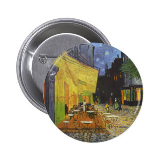 Cafe at Night by Vincent Van Gogh Buttons
