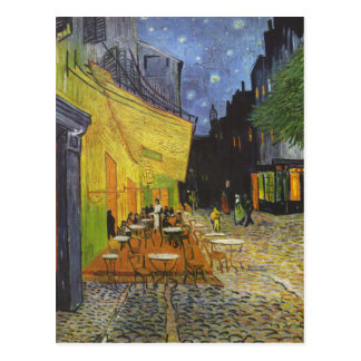 Cafe at Night by Vincent Van Gogh Postcard