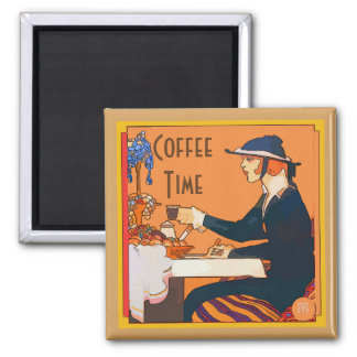 Cafe Aulait, French Quarter Square Magnet