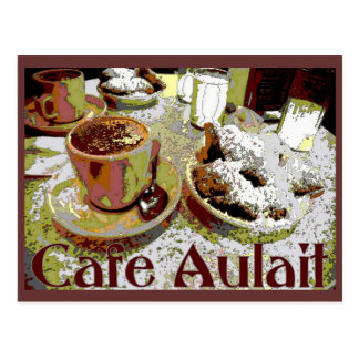 Cafe Aulait, New Orleans Coffee Postcard