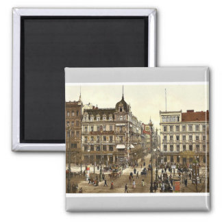 Cafe Bauer, Unter den Linden (Kranzler's Confectio Square Magnet