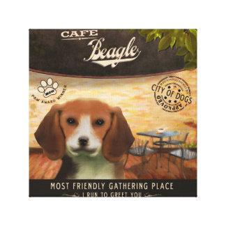 Cafe Beagle Canvas Print