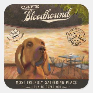 Café Bloodhound Square Sticker