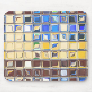 Cafe Blue ~ glass tiles Mouse Mat